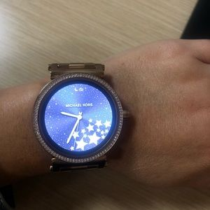 MK sofie rose gold smart watch